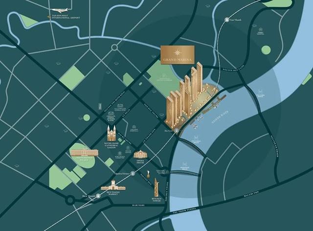 Bảng giá Grand Marina Sài Gòn - Vị trí dự án