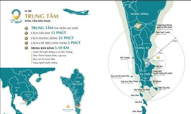 Vị trí dự án Selavia Phú Quốc