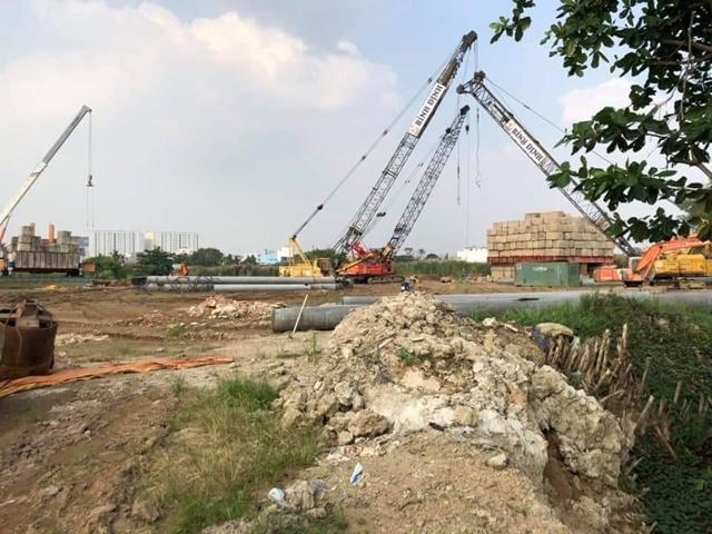 Công trường dự án City Gate 3 Quận 8