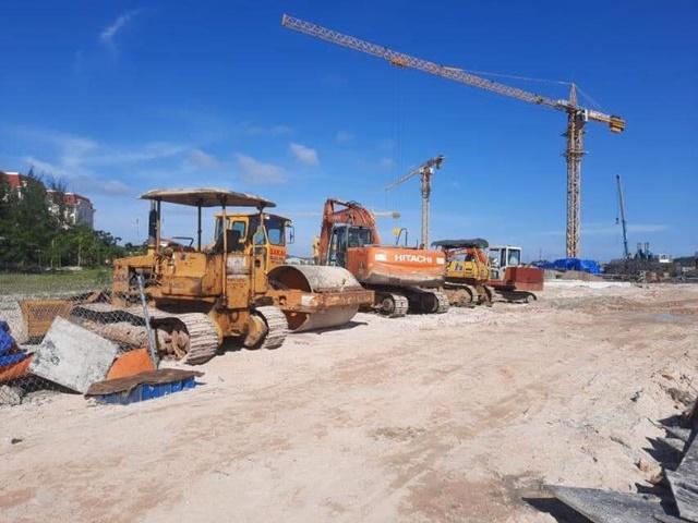 Tiến độ Selavia Phú Quốc tập nập công nhân xây dựng