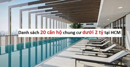 Danh sách 20 căn hộ 2 tỷ HCM