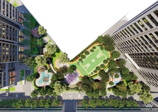Không gian sống xanh mát tại Aio City
