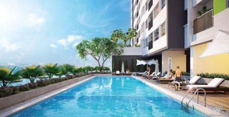 Khu tiện ích hồ bơi căn hộ Aio City