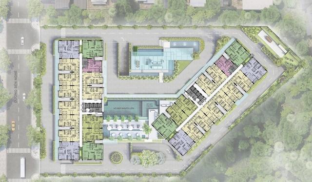 Mặt bằng tổng thể căn hộ Asiana Riverside Quận 7