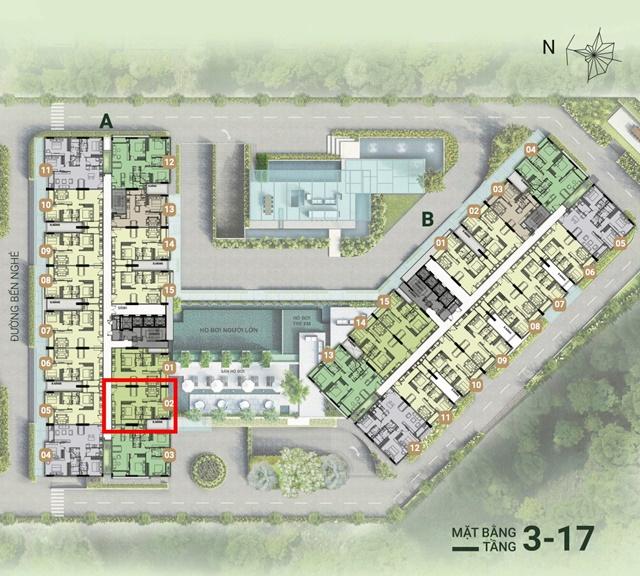 Mặt bằng tổng thể căn hộ Asiana Quận 7