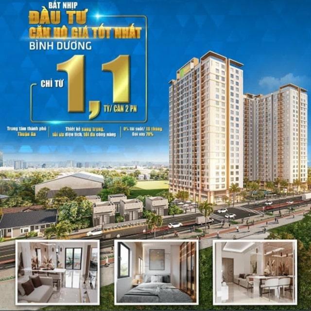 Sở hữu căn hộ Tecco Home Thuận An chỉ từ 1,1 tỷ/ căn