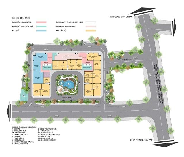 Mặt bằng căn hộ dự án Tecco Home Thuận An