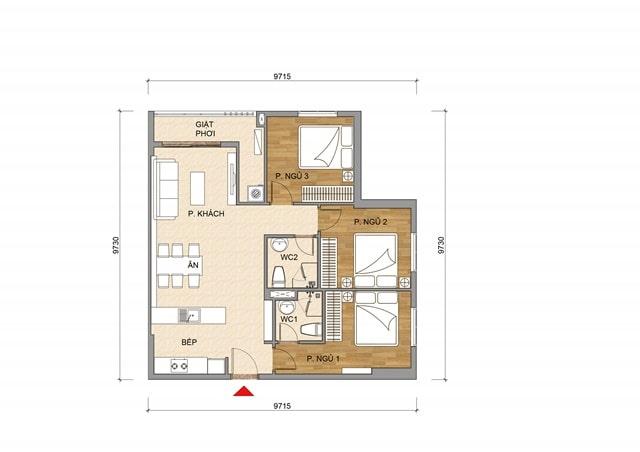 Thiết kế căn hộ dự án Tecco Home Thuận An
