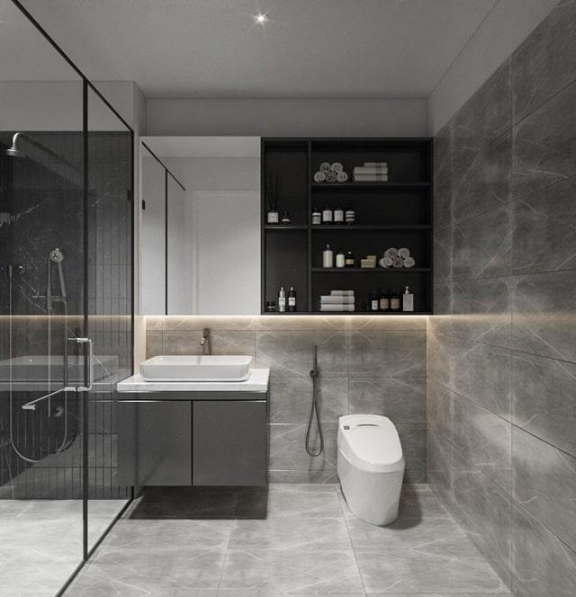Nhà vệ sinh căn hộ Tecco Felice Home bàn giao Full nội thất