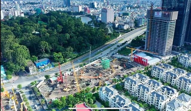 Tiến độ Grand Marina Sài Gòn từ trên cao