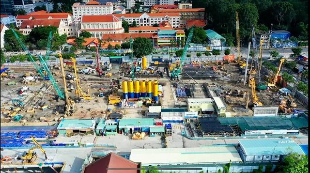 Hình ảnh thi công Grand Marina Quận 1 từ Tôn Đức Thắng