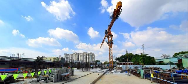 Hình ảnh tiến độ xây dựng căn hộ The Pegasuite 2 tháng 01/ 2021