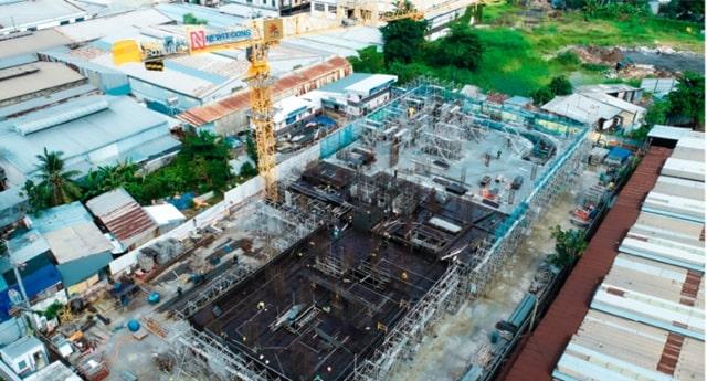 Công trường xây dựng The Pegasuiteb đảm bảo tiến độ tháng 05