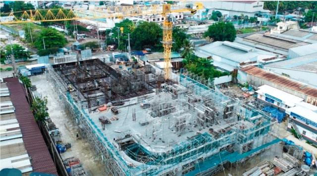 Tiến độ xây dựng dự án The Pegasuite 2 tháng 05/ 2021