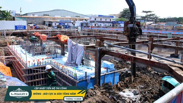 Hình ảnh công trường căn hộ Pegasuite 2 Tạ Quang Bửu tháng 11/ 2020