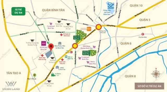 Vị trí dự án Aio City Bình Tân