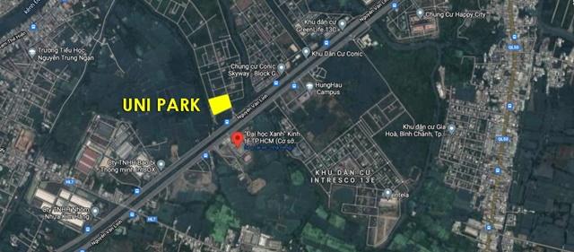 Vị trí dự án Uni Park Nguyễn Văn Linh - Nam Sài Gòn