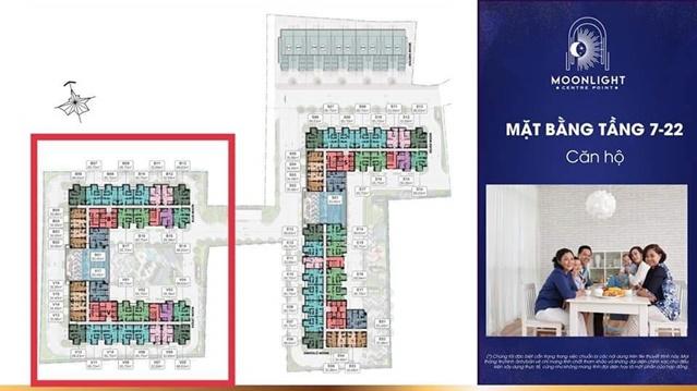 Mặt bằng bố trí và diện tích căn hộ chi tiết tại dự án Moonlight Tên Lửa