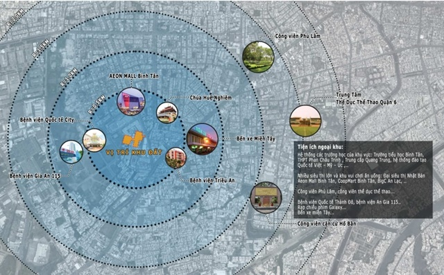 Dự án nằm trong trung tâm khu Tên Lửa, thừa hưởng hệ thống hạ tầng, tiện ích hiện hữu đồng bộ