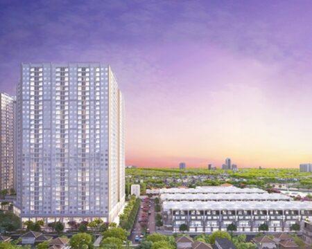 Toàn cảnh dự án City Gate 3 và khu thấp tầng với 134 căn nhà phố liền kề