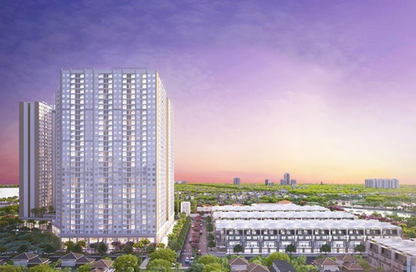 Khu nhà phố City Gate 3 với 134 căn cao cấp là điểm nhấn cho toàn dự án