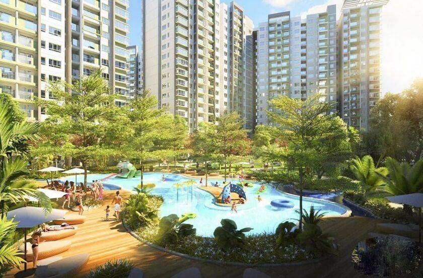 Hồ bơi và khu công viên trong dự án Stella En Tropic Võ Văn Kiệt Bình Tân