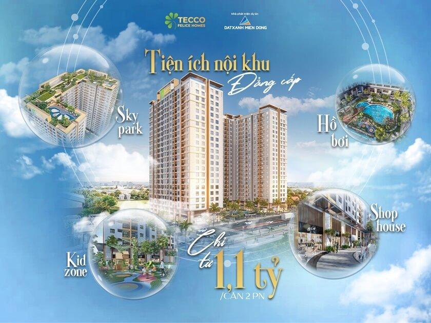 Sống tiện nghi, hiện đại cùng Tecco Felice Home Bình Dương - Chủ đầu tư Tecco Group