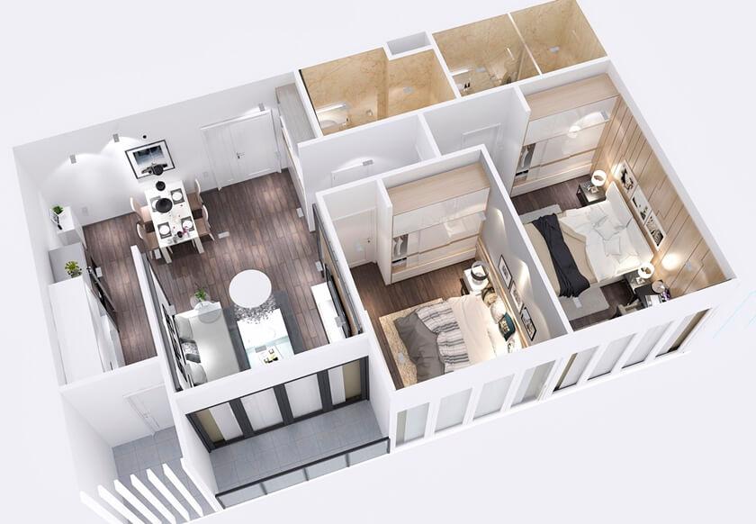 Thiết kế căn hộ city gate 3