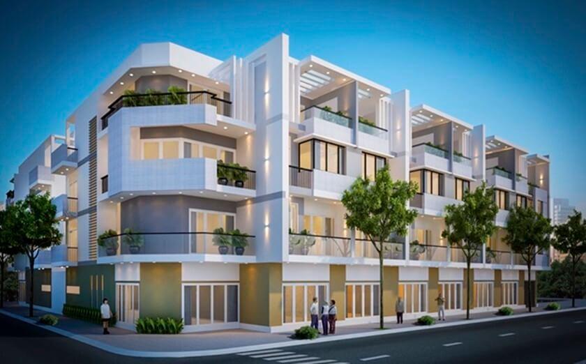 Phối cảnh thiết kế ngoại thất 134 căn nhà phố City Gate 3 - Chủ đầu tư 577