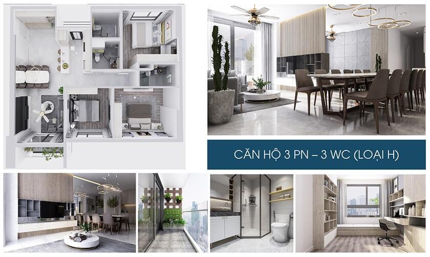 Hình ảnh nhà mẫu căn hộ 1 phòng ngủ dự án Charm City chủ đầu tử DCT Group