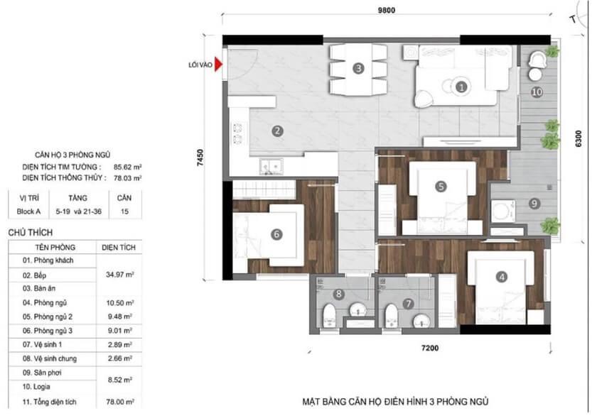 Thiết kế căn hộ Stella En Tropic Võ Văn Kiệt