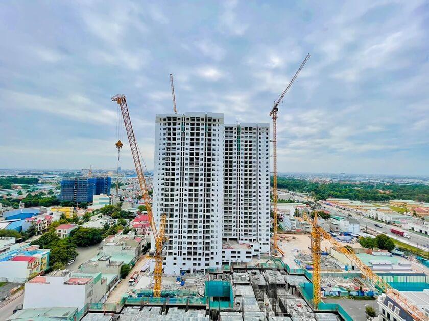 Tiến độ xây dựng dự án Charm City vượt tiến độ đang chuẩn bị bàn giao tháp Sapphire quý 4/ 2021
