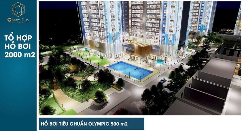 Tiện ích căn hộ Charm City Bình Dương chủ đầu tư DCT Patner