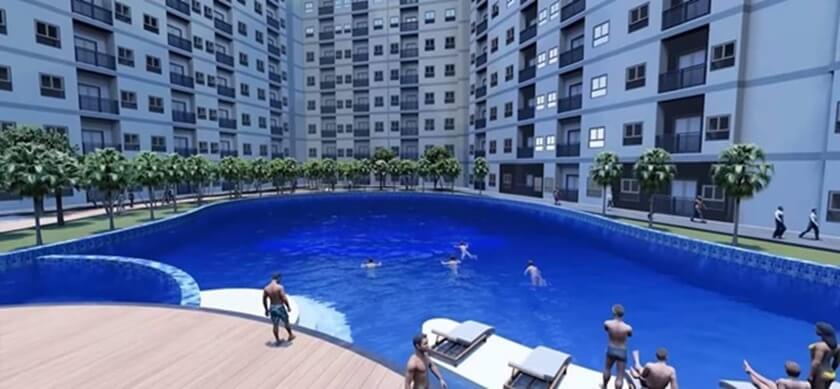 Tiện ích hồ bơi tại tầng 3 căn hộ