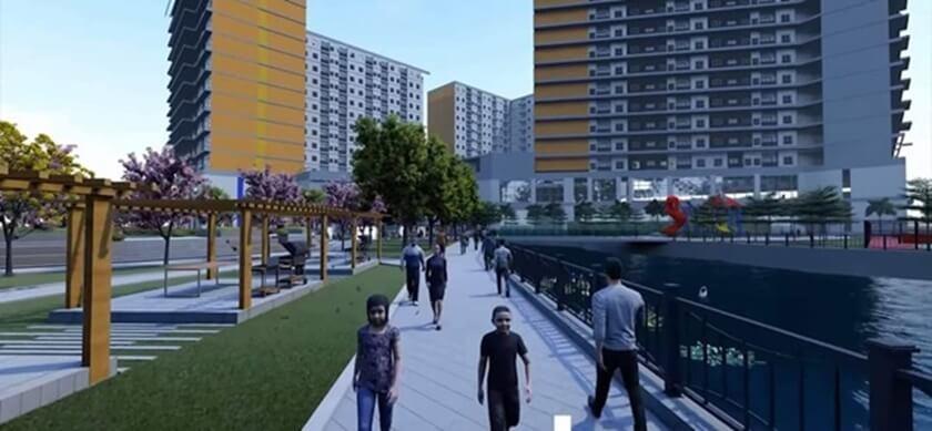 Khu vực công viên trung tâm với các tiện ích City Gate 3 nổi bật trong khuôn biên dự án