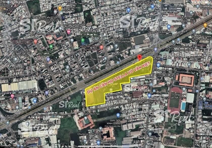 Dự án Stella EnTropic có quỹ đất trải dài nằm trên đại lộ Võ Văn Kiệt