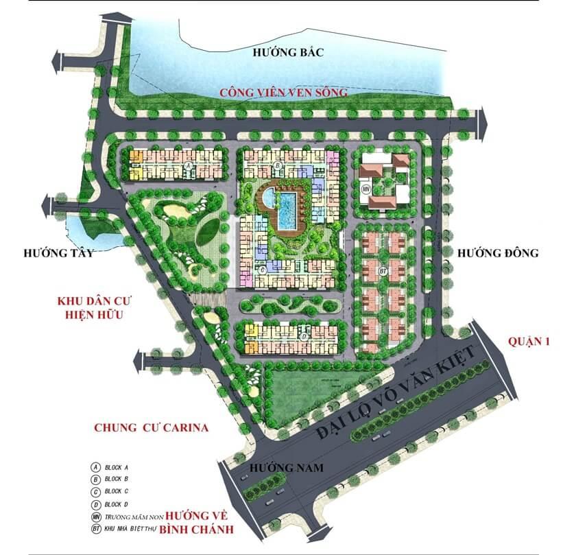 Vị trí căn hộ Diamond Riverside và tiếp giáp xung quanh dự án