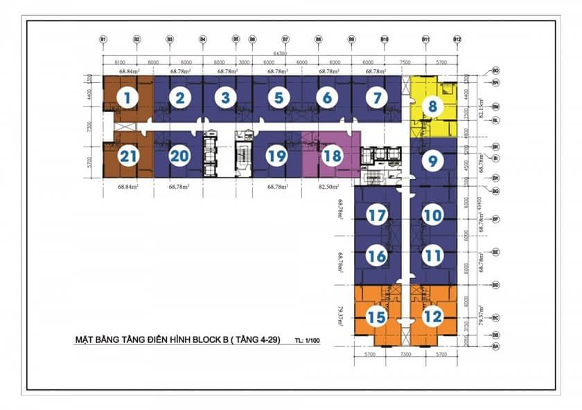 Mặt bằng tổng thể toàn khu dự án căn hộ chung cư Diamond Riverside Võ Văn Kiệt Quận 8