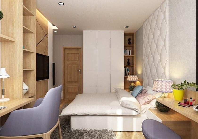 Phối cảnh căn hộ mẫu 2 phòng ngủ chung cư City Gate 2 khi hoàn thiện nội thất