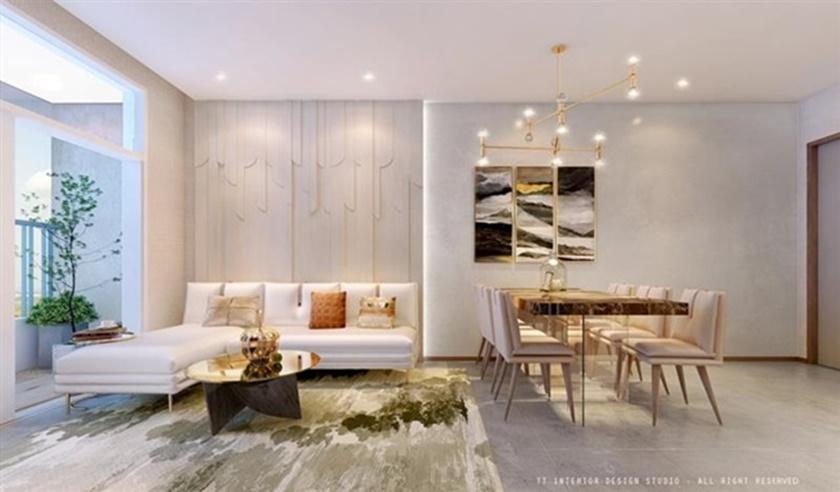 Nhà mẫu căn hộ 2 phòng ngủ dự án 152 Điện Biên Phủ CII quận Bình Thạnh