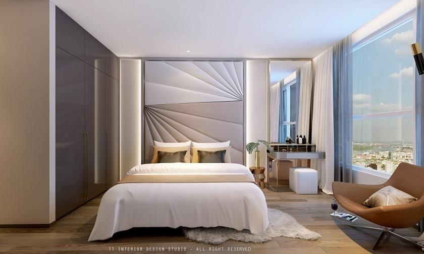 Nhà mẫu căn hộ 2 phòng ngủ căn hộ 152 Điện Biên Phủ CII quận Bình Thạnh