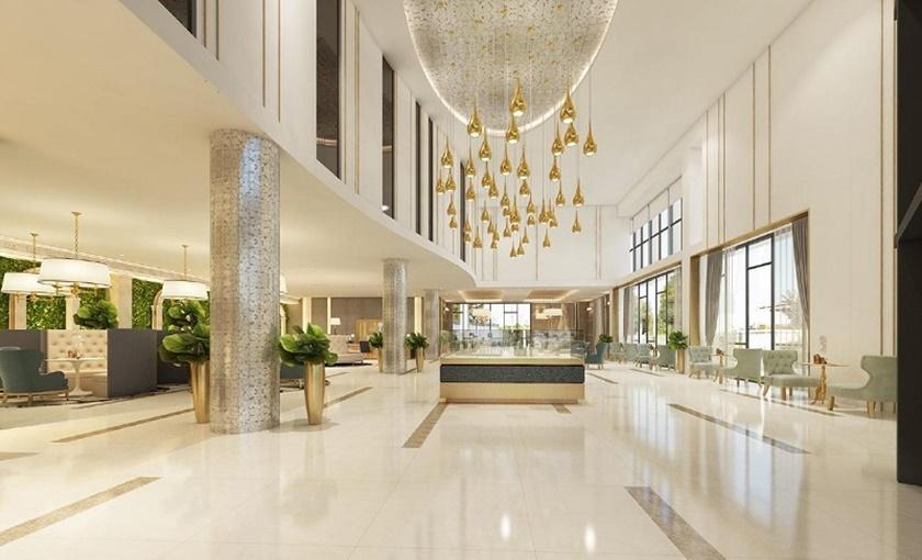 Khu sảnh đón trung tâm thương mại sang trọng tại dự án 152 Điện Biên Phủ