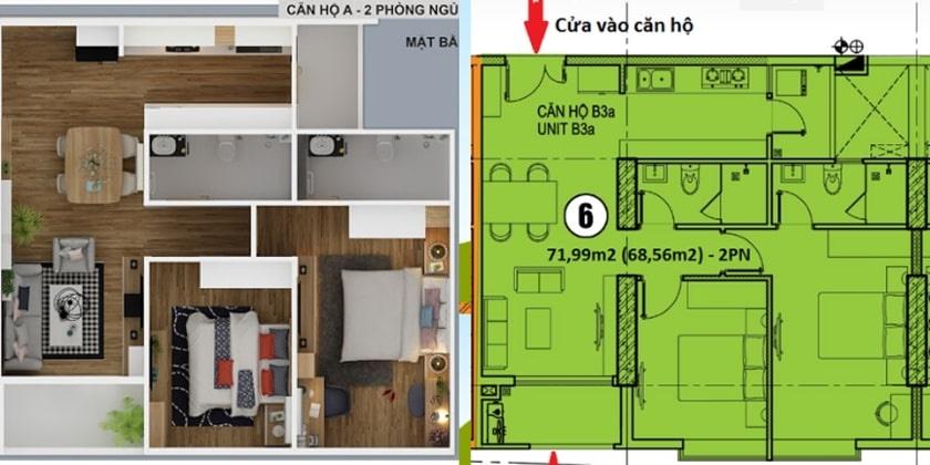 Thiết kế căn hộ chung cư 152 Điện Biên Phủ chủ đầu tư CII tại Bình Thạnh