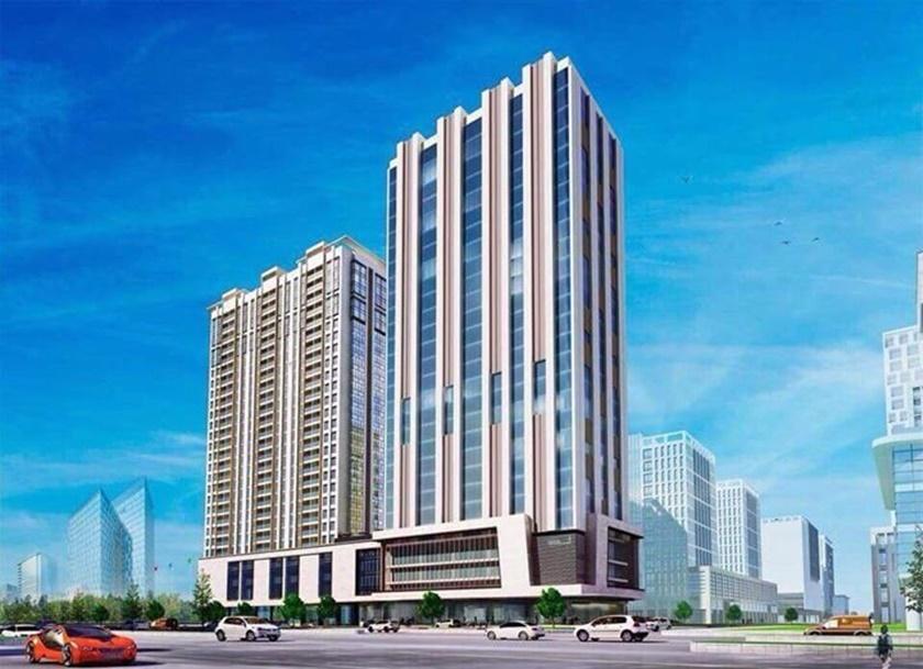 Dự án 152 Điện Biên Phủ gồm 2 tòa tháp cao 27 tầng, trong đó 1 tòa căn hộ + 1 tòa văn phòng office