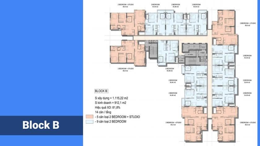 Mặt bằng căn hộ City Gate 5 Bình Chánh - Chủ đầu tư 577