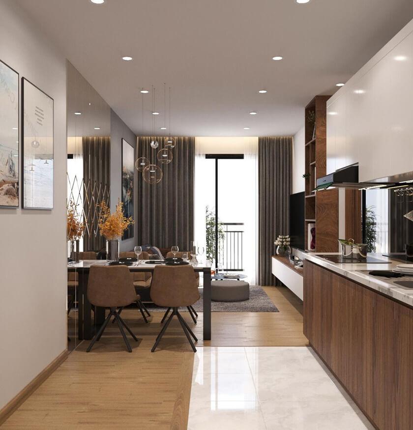 Thiết kế nhà mẫu căn hộ City Gate 2 loại 2 phòng ngủ 54.46m2