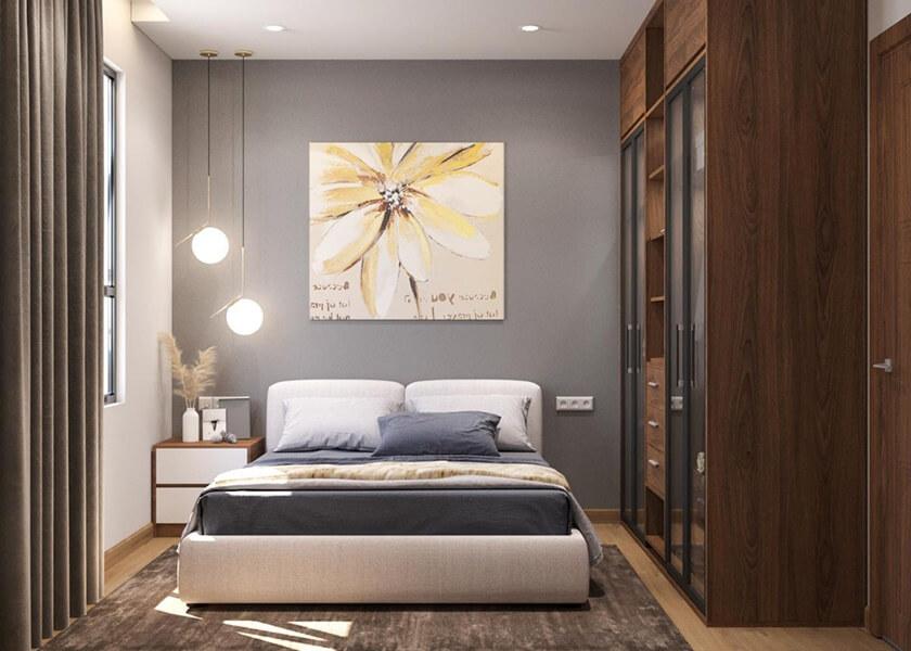Thiết kế nhà mẫu căn hộ City Gate 5 loại 2 phòng ngủ 54.46m2 - Phòng ngủ chính