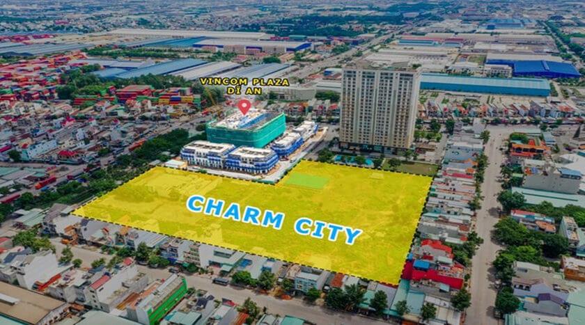 Vị trí dự án Charm City Bình Dương